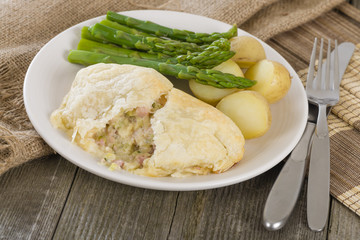 Chicken en Croute - Chicken fillet with bacon in puff pastry