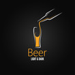 beer glass design menu background - 58212388