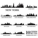 Fototapety Silhouette city set of USA #1