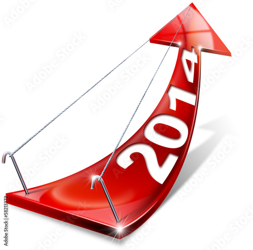 2014 Red Positive Arrow