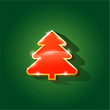 Glossy Christmas tree isolated on background eps 10