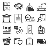 shipping icons set