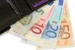 Billets de banque et portefeuille
