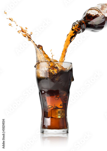 Pouring cola - 58214134