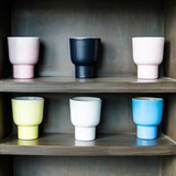coffee mugs on the shelf