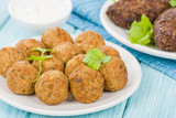Falafel - Middle Eastern chickpea and fava beans fried balls