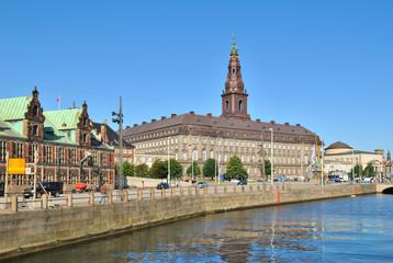 Copenhagen. Island Slotsholmen embankment