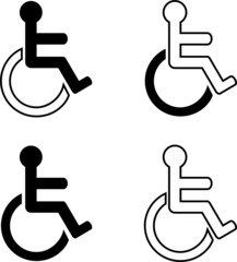 four different labels for the disabled