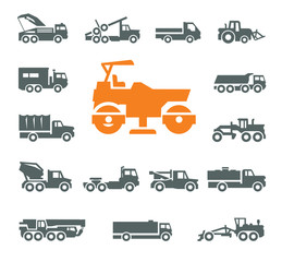 Transportation icons. Vector format