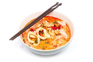 Tomyum seafood noodle