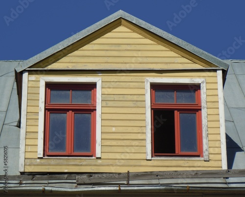 Yellow dormer (Riga, Latvia)