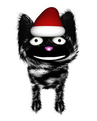 Happy furry christmas cat
