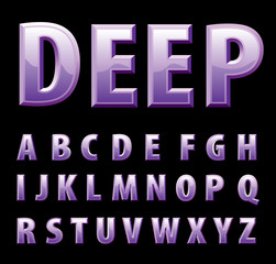 purple alphabet
