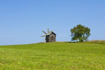 Windmill in Kizhi, Russia