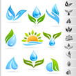 Nature Symbol and Icons series - 5        Water