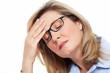Woman having headache.