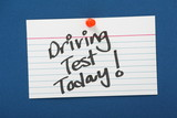 Driving Test Today Reminder Note