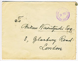 Antique censored WW1 tsarist era letter with London address