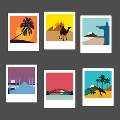 Travel destinations vectors