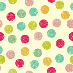 simple circle seamless background, vector illustration