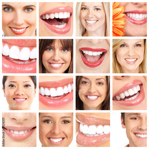 People teeth collage.