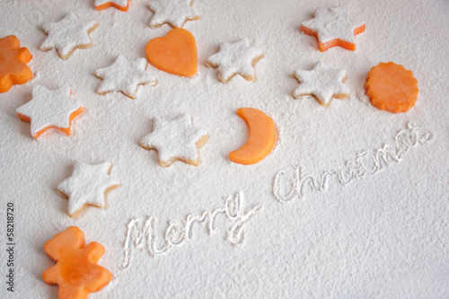 Christmas cake of pumpkin