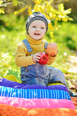 baby boy in fall