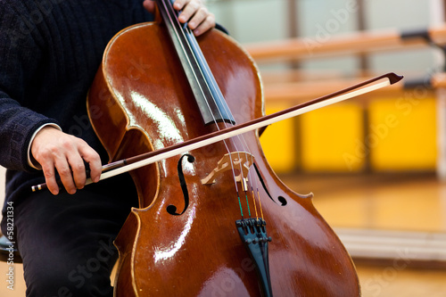 Man playing violoncello