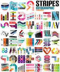 Big set of infographic modern templates - lines