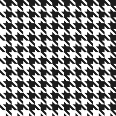 Seamless black and white houndstoothpattern.