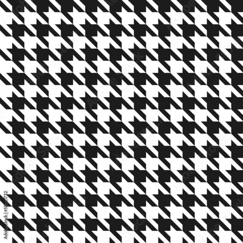 Seamless black and white houndstoothpattern. - 58221732