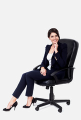 Business woman sitting in office