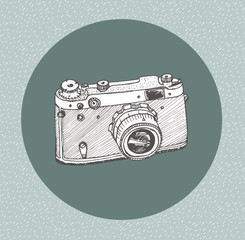 Hand drawn film camera