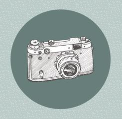 Hand drawn film camera