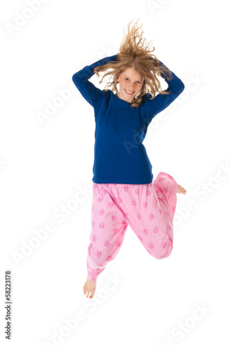 Jumping in pajamas