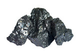 Three pieces of coal