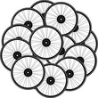 Bicycle wheel set isolated on white