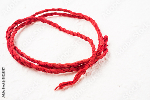 red mulberry paper rope