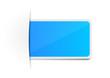 Schild Aufkleber blau