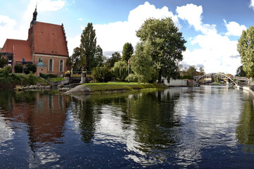 Brda River in Bydgoszc - Poland