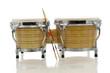 bongo set with drum sticks