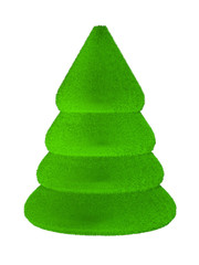 Christmas tree 3d isolated on the white background
