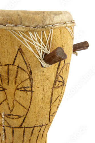 African drum in close up