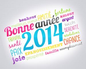 2014 carte de voeux bonne année
