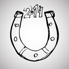 horseshoe doodle style.