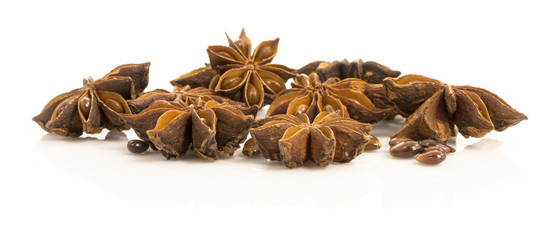 star anise. dried seeds of the plant Pimpinella anisum L.