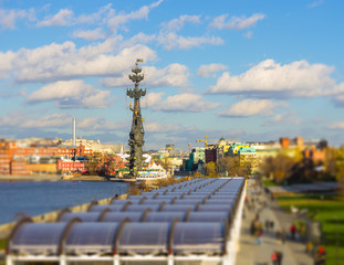 moscow skyline and peter the great