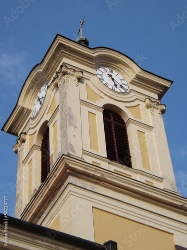Old Church with clock Ercsi City