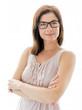 confident woman  wearing stylish glasses
