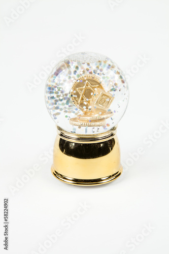 Chanukah Snow Globe